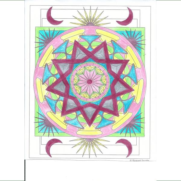 Virtues meditation mandala Coloring Book for adults