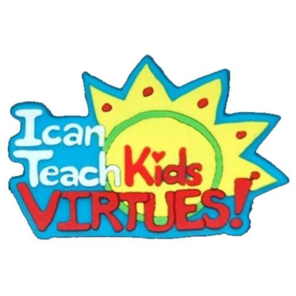 I Teach Kids Virtues Pin