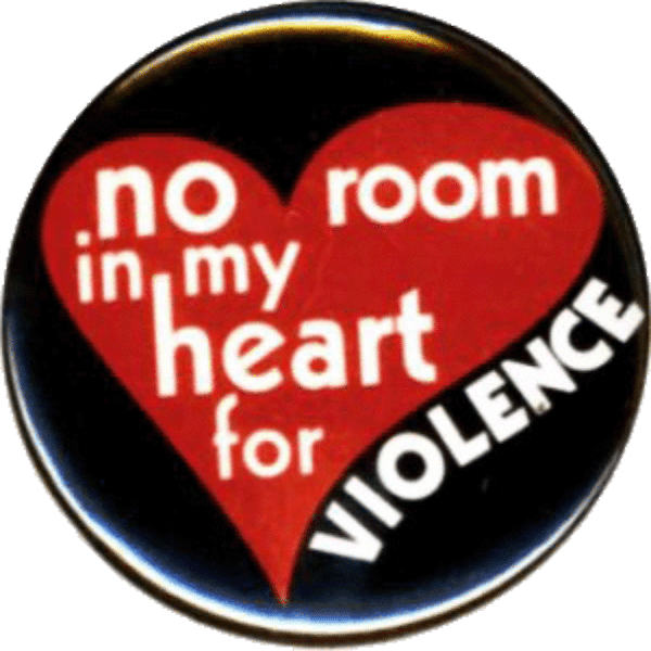 no room in my heart for violence magnet
