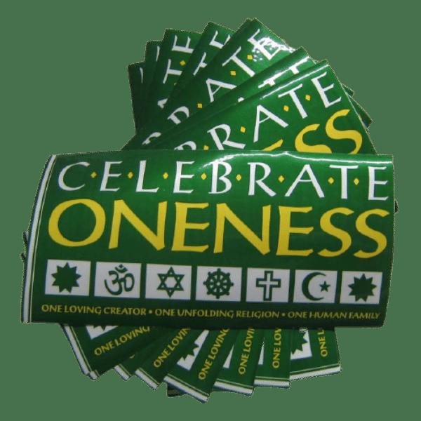 Celebrate Oneness removable bumper sticker