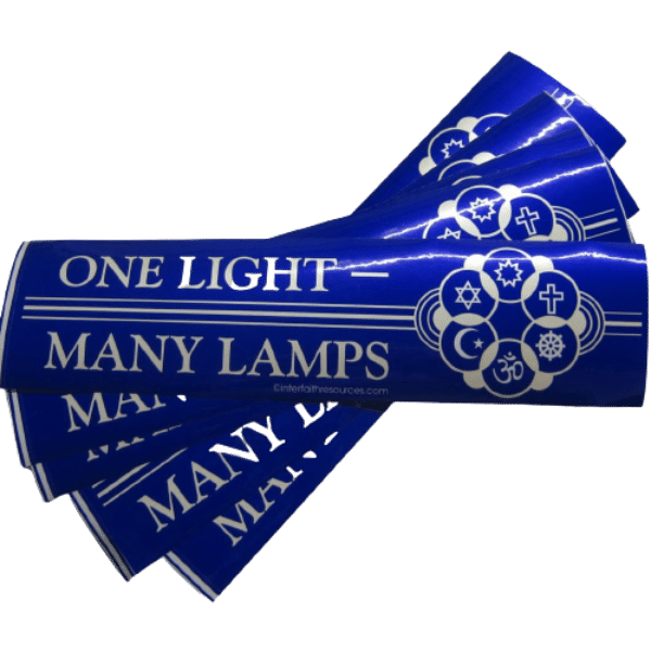 One Light Many Lamps removable bumper sticker