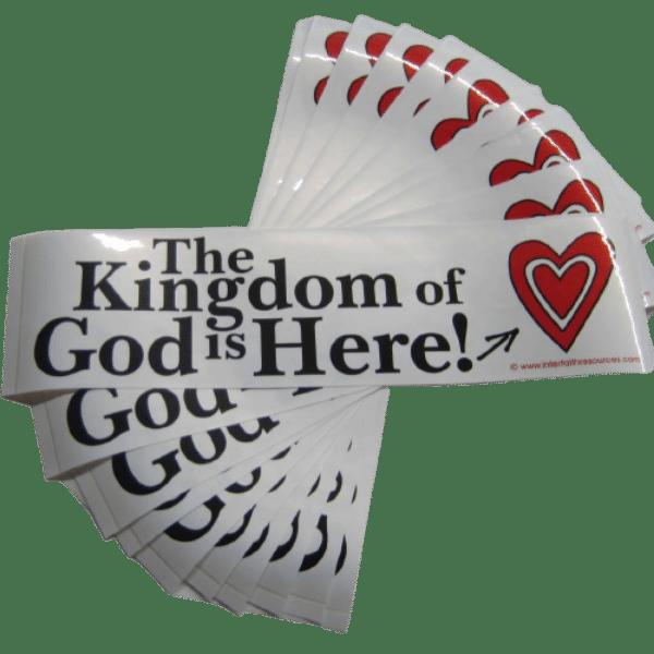 Kingdom of God removable bumper Sticker