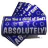 Are You a Child of God removable bumper sticker