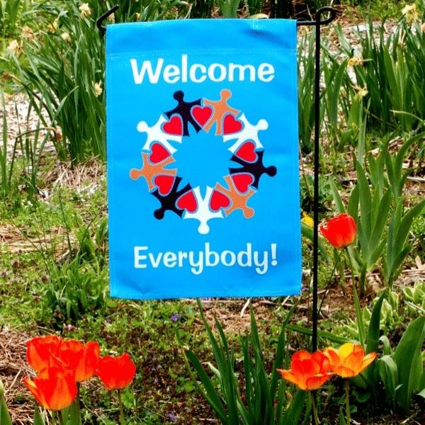 Welcome Everybody Yard Flag