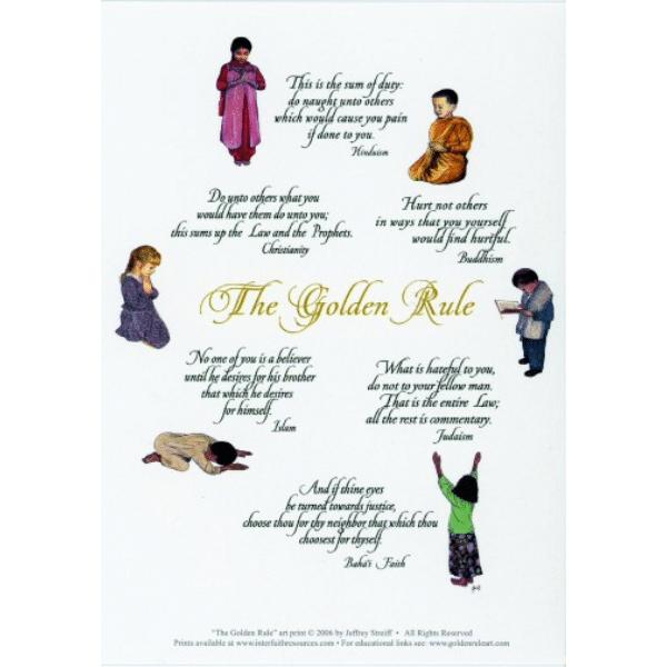 Praying Children Golden Rule Greeting Card
