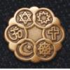 Antique Gold finish Interfaith Lapel Pin