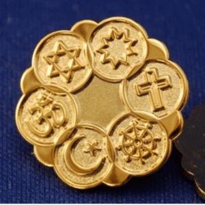 Bright Gold finish Interfaith Lapel Pin