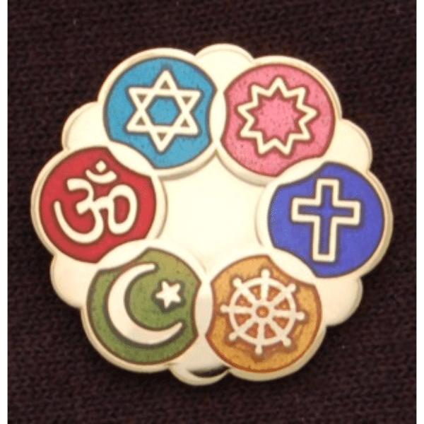 Color Cloisonne Interfaith Lapel Pins