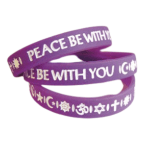 Peace Be With You Awareness Bracelet