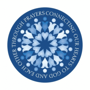 Prayers Connecting Our Heart – blue magnet