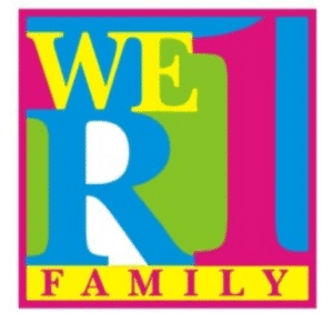We are one family Stickers