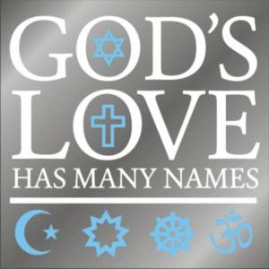 God's Love window decal