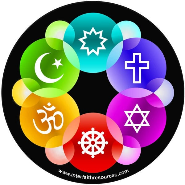 Interfaith design window decal