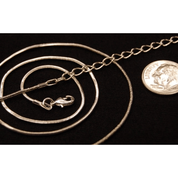 Sterling Silver Plated 20″ Snake Chain