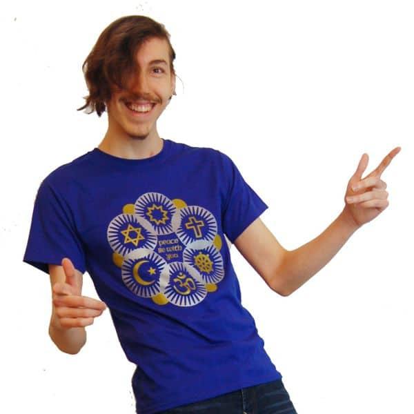 Interfaith T-shirt in Gold & Silver
