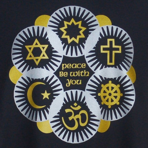Interfaith T-shirt in Gold & Silver