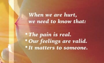 When we are hurt, we need to know