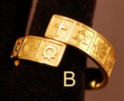 Gold-Plated Silver Interfaith Ring