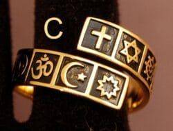 Gold & Black (Sterling) Interfaith Ring