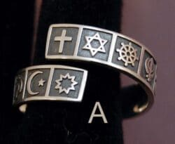 Silver Interfaith Ring