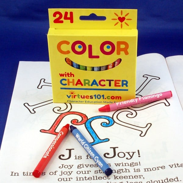 Virtues Crayons – Color with Character! 24-Pack